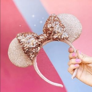 Disney Parks Briar Rose Gold Minnie Ears